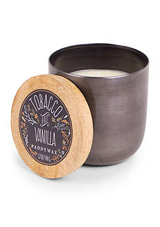 Paddywax 12-oz. Tobacco and Vanilla Gunmetal Metallic Candle