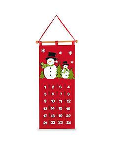 C&F 26.5-in. Felt Snowman Calendar