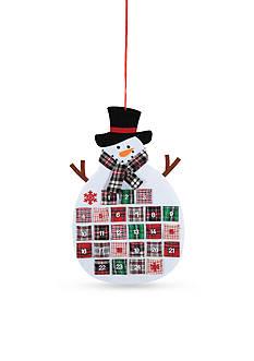 C&F 28-in. Plaid Snowman Calendar