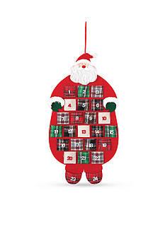 C&F 26-in. Plaid Felt Santa Calendar
