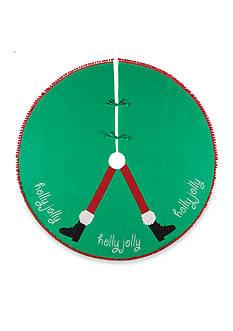 C&F 54-in. Holly Jolly Santa Legs Tree Skirt