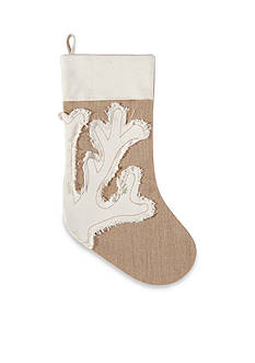 C&F 20-in. Merry Coastmas Coral Stocking