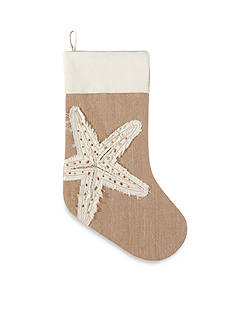 C&F 20-in. Merry Coastmas Starfish Stocking