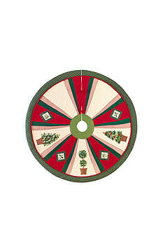 C&F Festive Topiaries Tree Skirt