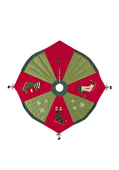 C&F Iceskate Tree Skirt
