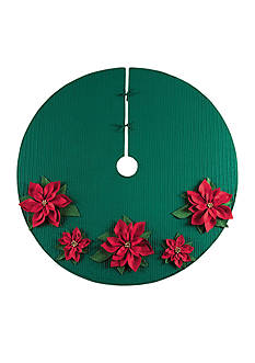 C&F Poinsettia Tree Skirt