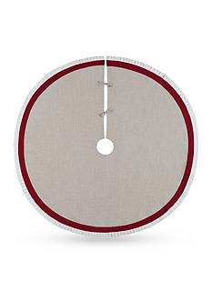 C&F 54-in. Linen Holiday Tree Skirt
