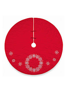 C&F 54-in. Snowflake Wreath Tree Skirt