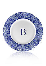 Rimmed Charger Plate - Initial B