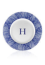 Rimmed Charger Plate - Initial H