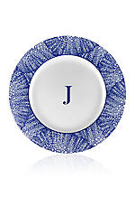 Rimmed Charger Plate - Initial J
