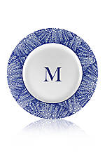 Rimmed Charger Plate - Initial M