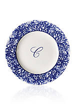 Rimmed Charger Plate - Initial C
