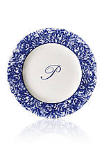 Rimmed Charger Plate - Initial P