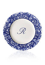 Rimmed Charger Plate - Initial R