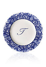 Rimmed Charger Plate - Initial T