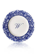 Rimmed Charger Plate - Initial W