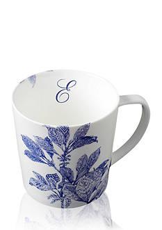 Caskata Arbor Blue Handled Mug - Initial E
