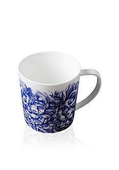 Caskata Peony Blue Handled Mug