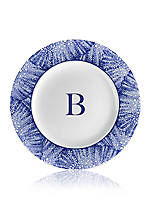 Blue Rimmed Salad Plate - Initial B