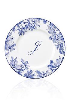 Caskata Rimmed Accent or Salad Plate - Initial J