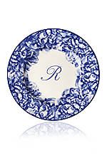 Blue Rimmed Salad Plate - Initial R