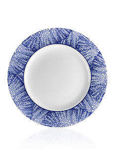 Caskata Sea Fan Blue Rimmed Salad Plate