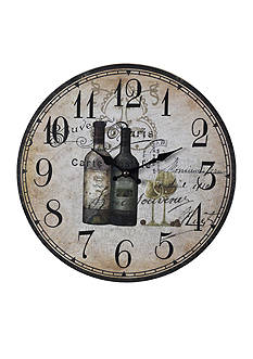 Sterling French Wine Vintage Clock