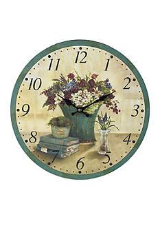 Sterling Bouquet Clock