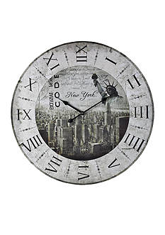 Sterling New York New York Clock