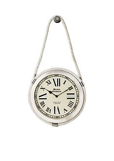 Sterling Citadel Series Brass Rope Wall Clock