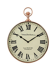 Sterling Citadel Series Polished Copper Wall Clock
