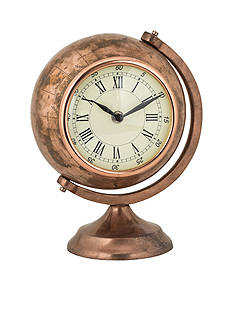 Sterling Table Top Globe Clock