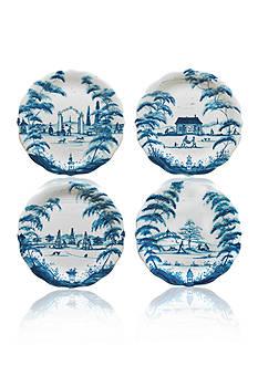 Juliska Country Estate Delft Blue Party Plates, Set/4