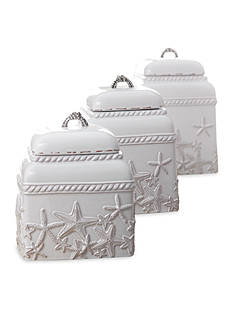 Mud Pie® Coastal Naturals 3-Piece Starfish Canister Set