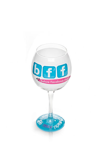 Mud Pie® BFF Wine Glass