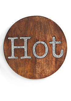 Mud Pie® 8-in. Circa 'Hot' Wood Trivet