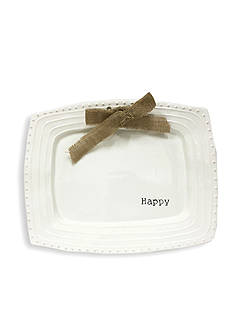 Mud Pie® Circa 15-in. 'Happy' Platter