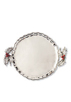 Mud Pie® Holly Metal Serving Tray