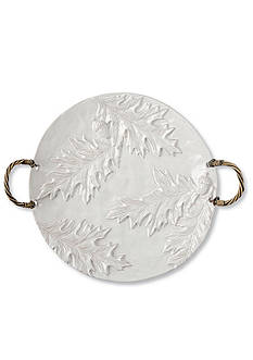 Mud Pie 14-in. Oakleaf Round Platter with Handle