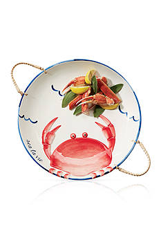 Mud Pie® Anchors Away Crab Platter with Rope Handles