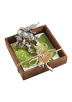Mud Pie 3-Piece Hydrangea Napkin Holder Set