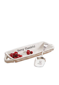 Mud Pie Circa 2-Piece 'Berry Thankful' Dish and Server Set
