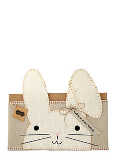 Mud Pie 31-in. Bunny Pillow Wrap