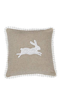 Mud Pie® 9-in. Bunny French Knot Pillow