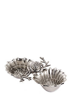 Mud Pie Coastal Naturals Turtle and Shell Double Dip Bowl