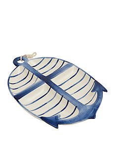 Mud Pie Anchors Away Anchor Section Platter