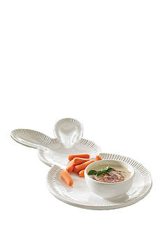 Mud Pie Bunny Chip and Dip Bowl and Tray