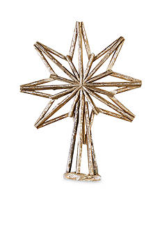 Mud Pie 18.5-in. Driftwood Foil Star Tree Topper