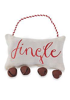 Mud Pie 7-in. 'Jingle' Jingle Bell Pillow Hanger
